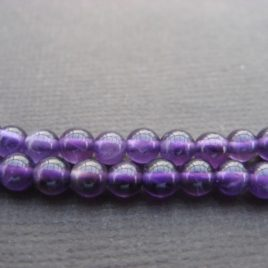 Perles d'améthyste 4 mm